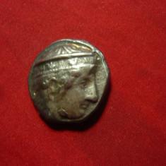 Moneda antica greceasca - Copie , metal alb ,d=2,3cm