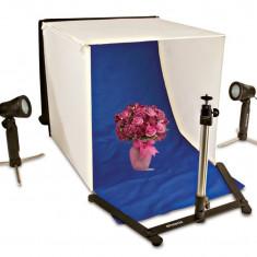 Cort Fotografie Polaroid, Kit Portabil pentru Fotografia de Produs, Include Lumini si Fundaluri in Diferite Culori
