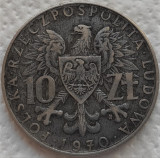 Moneda comemorativa 10 ZLOTI - POLONIA, anul 1970  *cod 744 = Bedziemy - rara