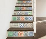 Set 24 stickere Vintage Porcelain Tiles - Wallplus, Multicolor
