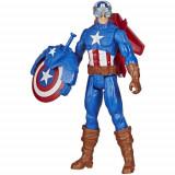 Figurina Captain America Avangers, Titan Hero Blast Gear, Hasbro