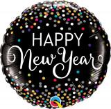 Balon Folie 45 cm Happy New Year, Qualatex 52891
