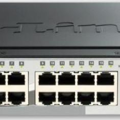 Switch D-Link DGS-1510-20, 16 porturi Gigabit, 2 porturi SFP, 2 porturi SFP+ 10G, Capacity 76Gbps, S