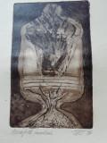 Obiect - Gravura acquaforte / acvatinta