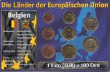 Belgia Set 8 - 1, 2, 5, 10, 20, 50 euro cent, 1, 2 euro 2003/2011 - UNC !!!