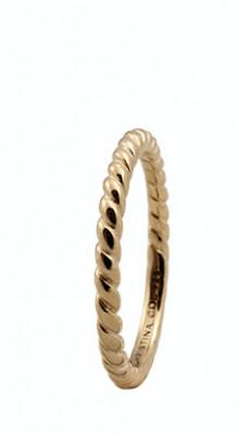 Inel Rope,Argint 925 placat cu aur galben de 18 K, Masura 53 foto