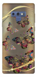 Husa Silicon Soft Upzz Print Samsung Galaxy Note 9 Model Golden Butterfly