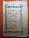 revista albina 10 mai 1915-ziua regalitatii-art si foto ferdinad si regina maria