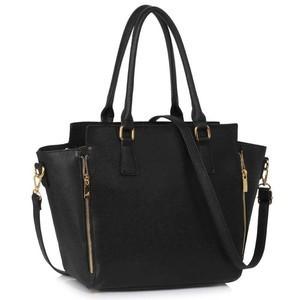 L&S Fashion LS00314A geanta pe umar neagra foto