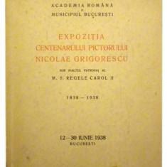 Expozitia centenarului pictorial Nicolae Grigorescu sub inaltul patronaj al M.S. Regele Carol II