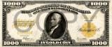 1000 dolari 1922 Reproducere Bancnota USD  ,   Dimensiune reala 1:1