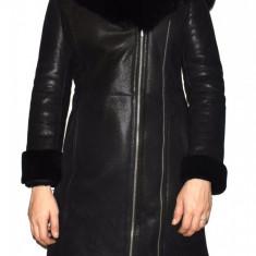 Cojoc dama, din blana naturala, Kurban, 6-01-95, negru