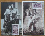 5 carti postale interbelice , costume populare romanesti , suvenire postale
