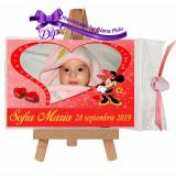 Marturii botez magneti Handmade by Diana Puiu Minnie Mouse MDFM 17