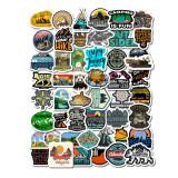 Set Stickere 50 buc bicicleta, telefon, laptop Camping Is Fun Travel