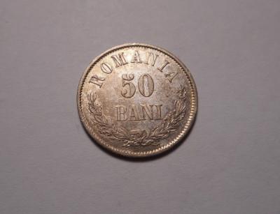 50 bani 1873 Piesa de Colectie foto