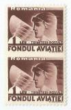 *Romania, LP VII.5b/1936, Fondul aviatiei trim. post., pereche ned., eroare, MNH, Nestampilat