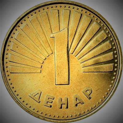 Moneda 1 Denar - MACEDONIA 2008 *cod 1963 xF foto