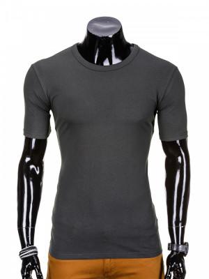 Tricou barbati, bumbac - S970-gri-inchis foto