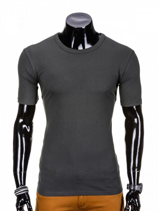 Tricou barbati, bumbac - S970-gri-inchis