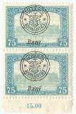 Romania, Emisiunile Oradea, LP 7b/1918, pereche,  Ban!, eroare, MNH