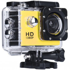 Camera Sport iUni Dare 50i HD 1080P, 12M, Waterproof, Galben