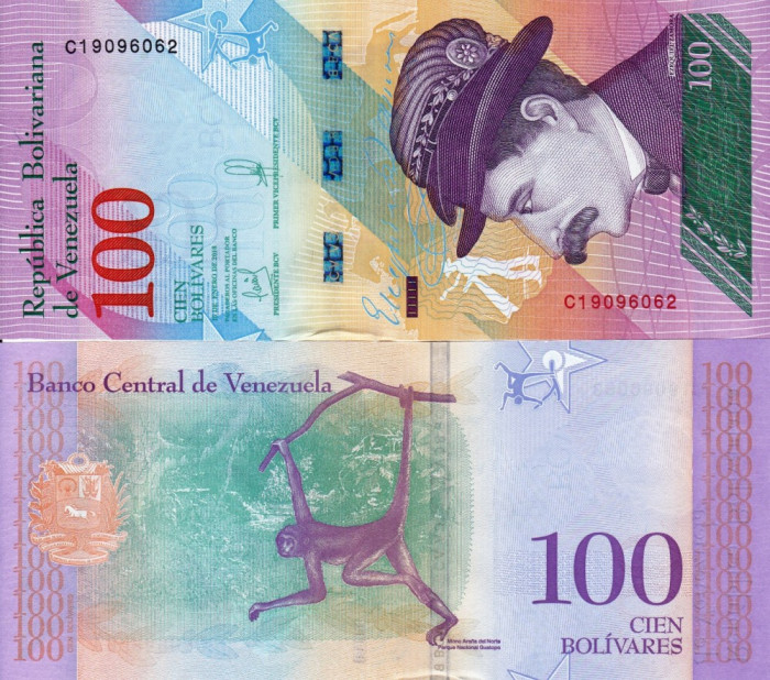 VENEZUELA 100 bolivares 2018 UNC!!!