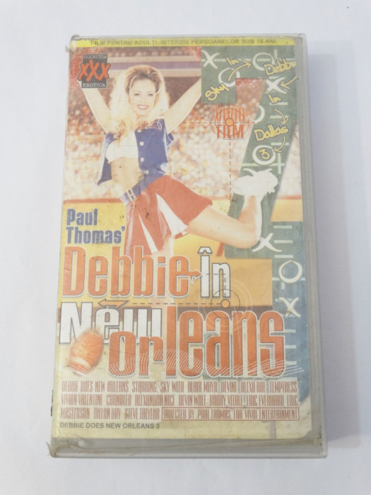 Caseta video VHS originala film tradus Ro XXX - Debbie in New Orleans