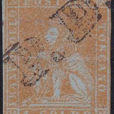 TOSCANA 1851 CU 2 SEMNATURI [ A.DIENA]SI FILIGRAN PERFECT VIZIBIL ! F.RAR !