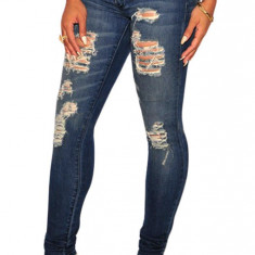 CL602-444 Jeans skinny model taiat Sandblast