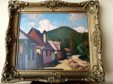 Tablou autentic Balla Bela, Peisaje, Ulei, Impresionism
