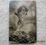 Carte Postala frantuzeasca, circulata la Focsani in 1929. Amprenta scrisa., Fotografie
