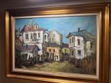 Teodor Harsia - Citadina , ulei pe pinza 50 x 75 cm , restaurat, Peisaje, Altul