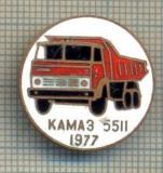 Y 578 INSIGNA- KAMAZ 5511 1977 -AUTOCAMION RUSIA -URSS  -PENTRU COLECTIONARI