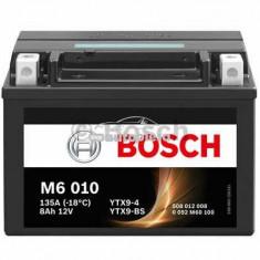 Acumulator baterie motociclete BOSCH M6 8 Ah 80A tip AGM 0 092 M60 100