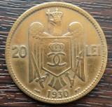 (MR14) MONEDA ROMANIA - 20 LEI 1930, PARIS, REGELE CAROL II