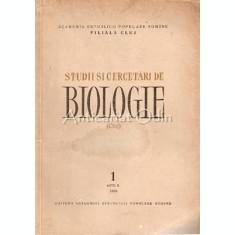 Studii Si Cercetari De Biologie. Cluj - X