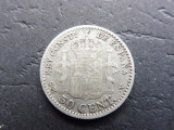 SPANIA - 50 Centimos 1904 - Alfonso XIII (Argint ) (25)