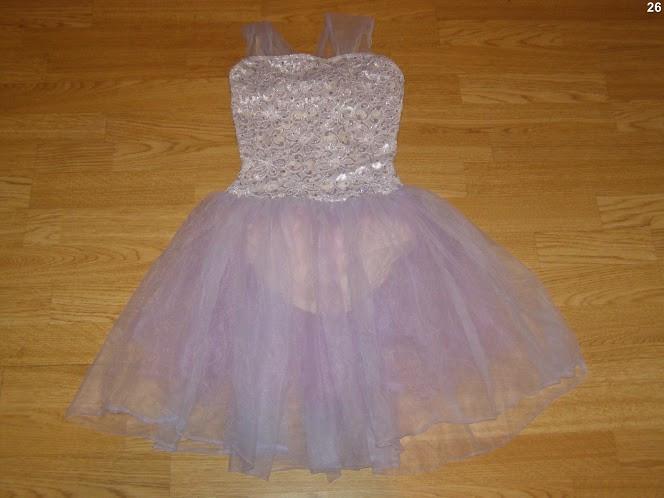 costum carnaval serbare rochie dans balet pentru copii de 8-9 ani