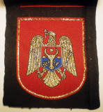 5.475 REPUBLICA MOLDOVA ECUSON STEMA NATIONALA 89/74mm