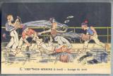 AX 81 CP VECHE INTERBELICA-UMORISTICA MILITARA -MARINARII NOSTRI -SPALA PUNTEA, Franta, Necirculata, Printata