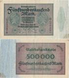 1923 ( 1 V ) , 500.000 mark ( P-88b/1 ) - Germania - stare XF