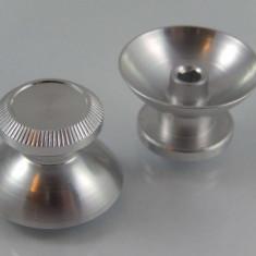 2stück daumengriff / thumbsticks pentru ps4, xbox one-controller aluminium silber, ,