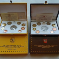 Seturi monede euro Vatican 2009 si 2011 - Proof