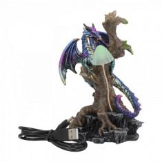 Statueta cu led dragon Aparatorul Padurii 17 cm