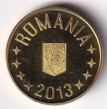 Romania 1 Ban 2013 - PROOF, 16.75 mm KM-189 UNC !!!