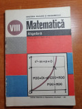 manual de matematica - algebra pentru clasa a 8-a din anul 1989