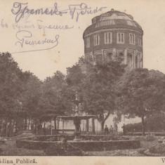 BRAILA ,GRADINA PUBLICA,CIRCULAT 1917 ,ROMANIA., Circulata, Fotografie