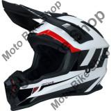 MBS Casca motocross Ufo Plast Quiver Ontake, alb/negru, S, Cod Produs: HE122S