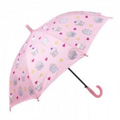 Umbrela pentru fete, automata Pami Cookies 80 cm Roz